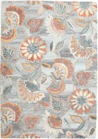 Rusty Flowers - Grey/Rust Rug 160X230 Modern Light Grey/Beige (Wool, India)