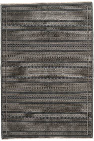 Kilim Persia Rug 160X230 Authentic Oriental Handwoven Dark Grey/Black/Light Grey (Wool, Persia/Iran)