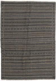 Kilim Rug 159X227 Authentic  Oriental Handwoven Dark Grey/Black (Wool, Persia/Iran)