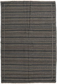 Kilim Persia Rug 160X230 Authentic  Oriental Handwoven Dark Grey/Black (Wool, Persia/Iran)