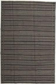 Kilim Rug 197X298 Authentic  Oriental Handwoven Dark Grey/Light Grey (Wool, Persia/Iran)