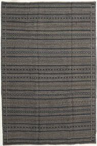 Kilim Persia Rug 200X300 Authentic  Oriental Handwoven Dark Grey/Black (Wool, Persia/Iran)