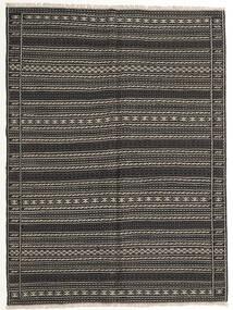 Kilim Rug 155X210 Authentic  Oriental Handwoven Dark Grey/Black (Wool, Persia/Iran)