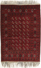 Afghan Khal Mohammadi Rug 132X182 Authentic Oriental Handknotted Dark Red/Light Grey (Wool, Afghanistan)