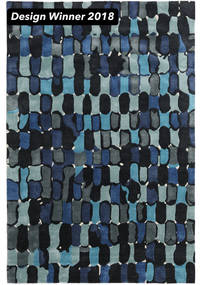 In The Woods - 2018 Rug 200X300 Modern Dark Blue/Blue ( India)