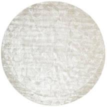Crystal - Silver White Rug Ø 250 Modern Round Light Grey/Dark Beige/Beige Large ( India)