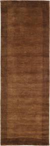 Handloom Frame - Brown Rug 80X250 Modern Hallway Runner  Dark Brown/Brown (Wool, India)