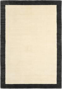 Handloom Frame - Black/White Rug 160X230 Modern Beige/Black (Wool, India)