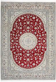 Nain 9La Rug 246X345 Authentic  Oriental Handknotted Light Grey/Beige (Wool/Silk, Persia/Iran)