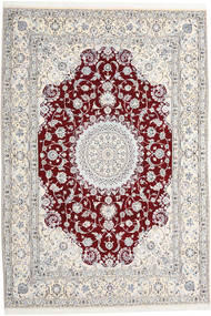 Nain 9La Rug 247X368 Authentic  Oriental Handknotted Light Grey/Beige (Wool/Silk, Persia/Iran)