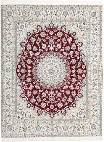 Nain 9La Rug 198X258 Authentic  Oriental Handknotted Light Grey/Beige (Wool/Silk, Persia/Iran)