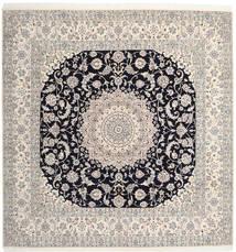 Nain 9La Rug 300X310 Authentic  Oriental Handknotted Square Large (Wool/Silk, Persia/Iran)