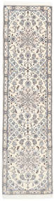 Nain 9La Rug 77X300 Authentic  Oriental Handknotted Hallway Runner  (Wool/Silk, Persia/Iran)