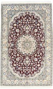 Nain 9La Rug 130X205 Authentic  Oriental Handknotted Light Grey/Dark Brown/White/Creme (Wool/Silk, Persia/Iran)