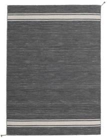 Ernst - Dark Grey/Light Beige Rug 140X200 Authentic  Modern Handwoven Dark Grey (Wool, India)