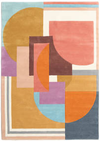 Arty - Multi Rug 140X200 Modern Orange/Dark Beige (Wool, India)