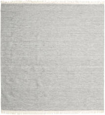 Melange - Grey Rug 250X250 Authentic Modern Handwoven Square Light Grey Large (Wool, India)