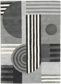 Tilt - Grey Rug 140X200 Modern Light Grey/Dark Green (Wool, India)