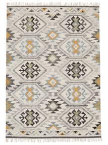 Mirzapur Rug 200X300 Authentic  Modern Handwoven Dark Beige/Beige (Wool, India)