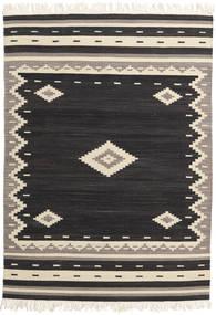 Tribal - Black Rug 140X200 Authentic  Modern Handwoven Black/Beige (Wool, India)