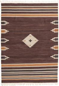 Tribal - Brown Rug 140X200 Authentic  Modern Handwoven Dark Brown/Dark Red (Wool, India)