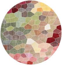 Play Of Colours Rug Ø 200 Modern Round Dark Beige/Light Grey ( Turkey)