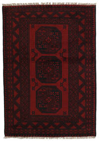 Afghan Rug 94X141 Authentic  Oriental Handknotted Dark Red (Wool, Afghanistan)