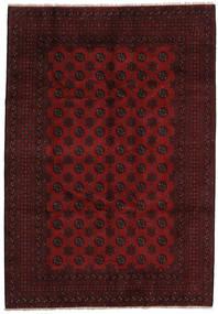 Afghan Rug 198X286 Authentic  Oriental Handknotted Dark Red (Wool, Afghanistan)