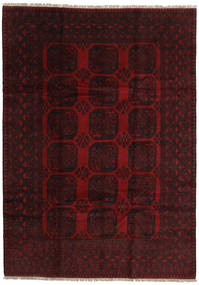 Afghan Rug 200X279 Authentic  Oriental Handknotted Dark Red (Wool, Afghanistan)