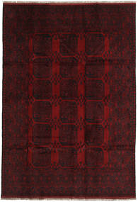 Afghan Rug 198X288 Authentic  Oriental Handknotted Dark Red (Wool, Afghanistan)