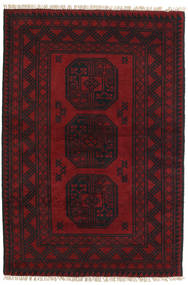 Afghan Rug 99X147 Authentic  Oriental Handknotted Dark Red/Dark Brown (Wool, Afghanistan)