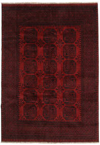 Afghan Rug 199X281 Authentic  Oriental Handknotted Dark Red (Wool, Afghanistan)