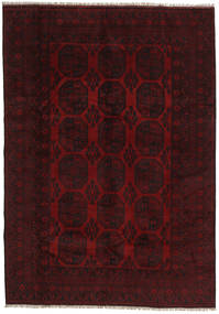 Afghan Rug 199X282 Authentic  Oriental Handknotted Dark Red (Wool, Afghanistan)