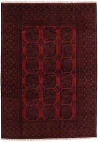 Afghan Rug 205X286 Authentic  Oriental Handknotted Dark Red (Wool, Afghanistan)