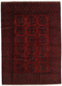 Afghan Rug 204X284 Authentic  Oriental Handknotted Dark Red (Wool, Afghanistan)