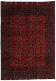 Afghan Rug 194X279 Authentic  Oriental Handknotted Dark Red/Crimson Red (Wool, Afghanistan)