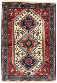Yalameh Rug 98X141 Authentic Oriental Handknotted Dark Red/Dark Blue (Wool, Persia/Iran)