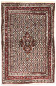 Moud Rug 100X150 Authentic  Oriental Handknotted Dark Red/Dark Brown (Wool/Silk, Persia/Iran)