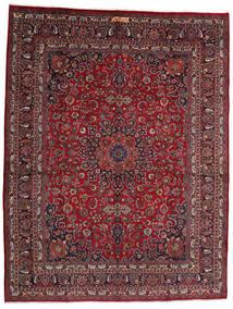 Mashad Rug 302X393 Authentic  Oriental Handknotted Dark Red/Dark Grey Large (Wool, Persia/Iran)