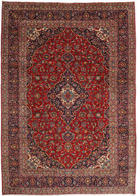 Keshan Rug 244X349 Authentic  Oriental Handknotted Dark Red/Light Brown (Wool, Persia/Iran)