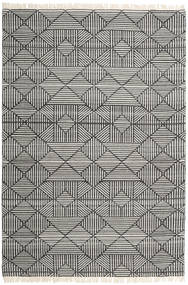 Mauri Rug 200X300 Authentic  Modern Handwoven Dark Grey/Light Grey (Wool, India)