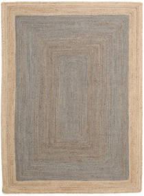 Outdoor Rug Frida Frame - Grey/Natural Rug 160X230 Authentic Modern Handwoven Light Grey/Beige (Jute Rug India)