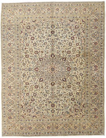 Keshan Rug 296X386 Authentic  Oriental Handknotted Light Grey/Beige Large (Wool, Persia/Iran)