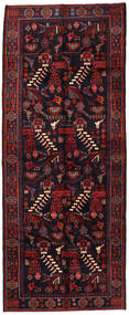Saveh Rug 160X398 Authentic Oriental Handknotted Hallway Runner Dark Brown/Dark Red (Wool, Persia/Iran)