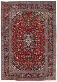 Keshan Rug 242X351 Authentic  Oriental Handknotted Dark Brown/Dark Red (Wool, Persia/Iran)