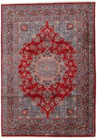 Mashad Rug 243X341 Authentic  Oriental Handknotted Dark Brown/Dark Red (Wool, Persia/Iran)