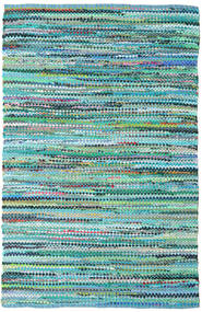 Ronja - Green Mix Rug 140X200 Authentic  Modern Handwoven Turquoise Blue/Light Blue (Cotton, India)