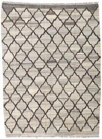 Kilim Ariana Rug 134X181 Authentic  Modern Handwoven Light Grey/Dark Grey (Wool, Afghanistan)