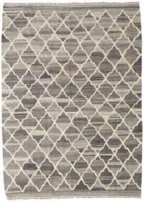 Kilim Ariana Rug 135X186 Authentic  Modern Handwoven Light Grey/Dark Grey (Wool, Afghanistan)