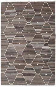 Kilim Ariana Rug 208X317 Authentic  Modern Handwoven Light Grey/Dark Grey/Dark Brown (Wool, Afghanistan)